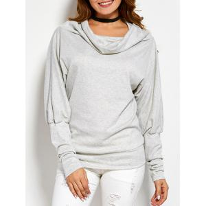 Funnel Neck Loose Sweatshirt