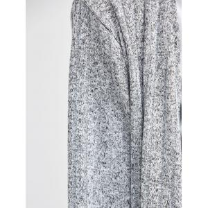 Side Slit Design Knit Blends Maxi Long Cardigan - LIGHT GRAY XL
