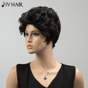 Short Shaggy Curly Siv Human Hair Wig -