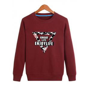 Floral Inverted Triangle Printed Pullover Sweatshirt