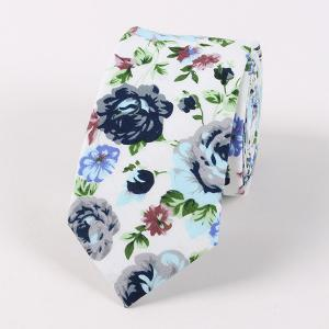 Flower Shivering Pattern Neck Tie