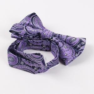Ethnic Style Bowknot Bow Tie - PURPLE