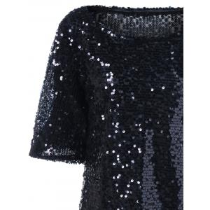 Plus Size Short Sleeve Sequined T-Shirt -