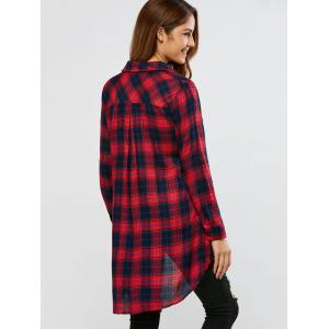 Plaid High Low Shirt -