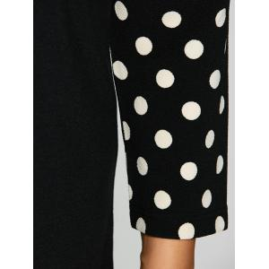 Plus Size Polka Dot Panel Short Dress - BLACK XL