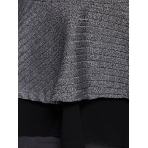 Skinny Skirted Pullover Sweater -