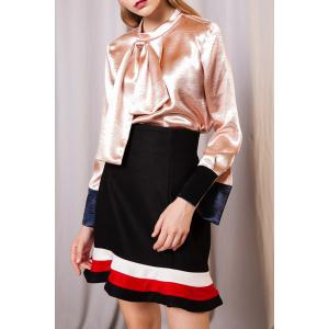 Pussy Bow Satin Face Blouse