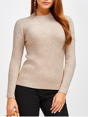 Discount Fit Ribbed Pullover Sweater KHAKI ONE SIZE