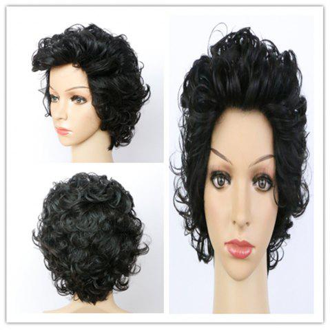 Unique Handsome Ultrashort Curly Natural Black Women's Synthetic Hair Wig BLACK
