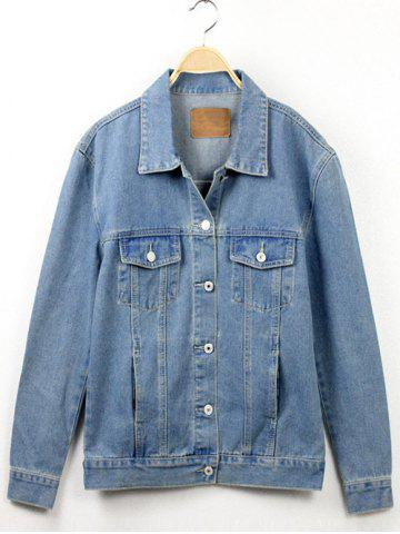 Chic Button Fly Denim Jacket