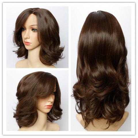 Shop Fluffy Wave Capless Stunning Dark Brown Short Synthetic Wig For Women