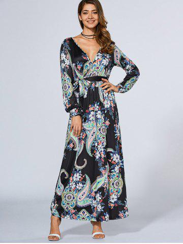 Shop Plunging Neck Bohemian Maxi Dress