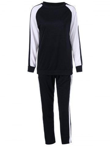 Store Two Tone Tee With Pants Sport Suit