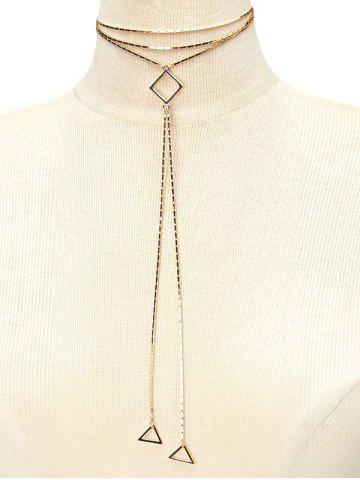 Chic Geometry Alloy Tassel Necklace