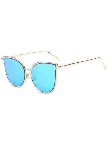 Online Travel Hollow Out Double Frames Butterfly Shaped Mirrored Sunglasses