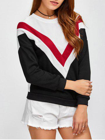 Unique College Big Letter V Sweatshirt