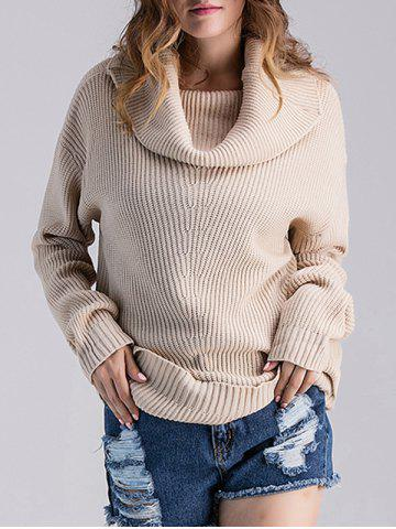 Hot Cowl Neck Ribbed Knit Sweater