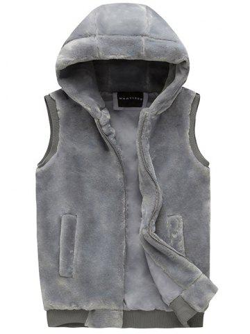 Outfits Zip Up Faux Fur Hooded Vest