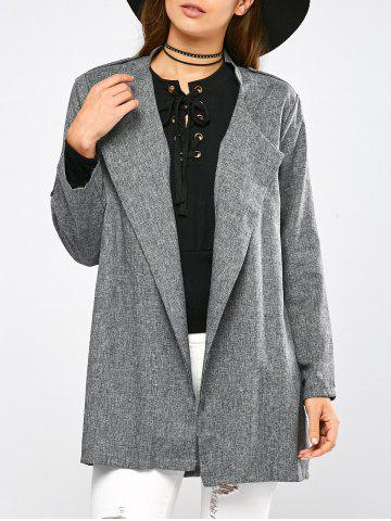 Fancy Epaulet Open Front Walker Coat