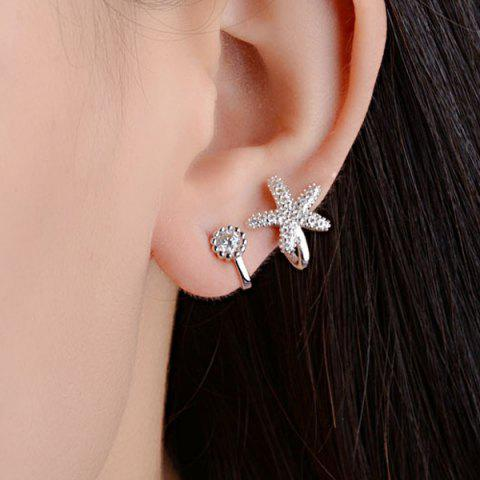 Best Concise Clip Earrings Without Piercing SILVER