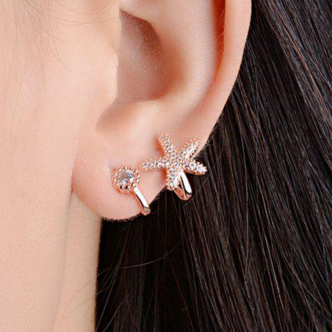 Shops Concise Clip Earrings Without Piercing GOLDEN