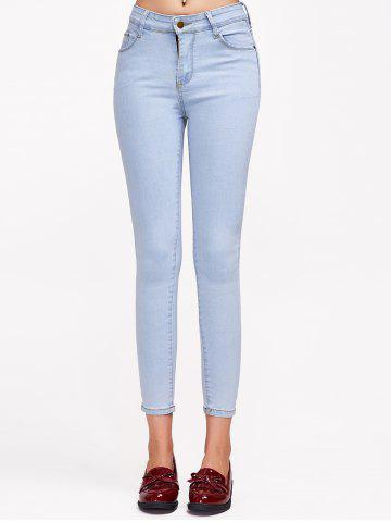 Outfit Stretchy Pocket Design Jeans