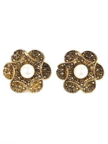 Affordable Artificial Pearl Flower Earrings