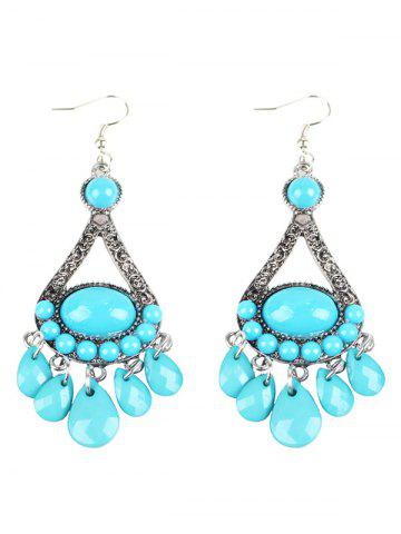 Fancy Bohemian Beads Chandelier Earrings WINDSOR BLUE