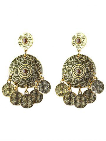 Outfit Bohemian Circle Coins Drop Earrings