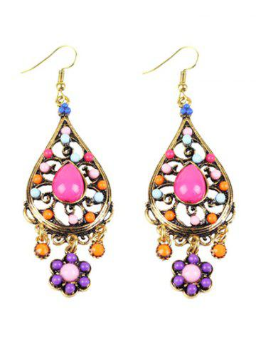 Affordable Bohemian Beads Flower Chandelier Earrings COLORMIX