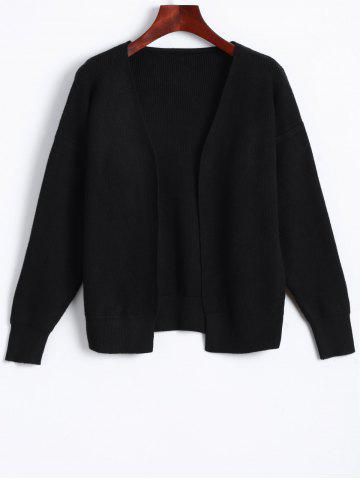 Trendy Casual Collarless Knit Cardigan