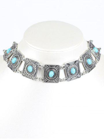 Buy Bohemian Artificial Turquoise Choker WINDSOR BLUE