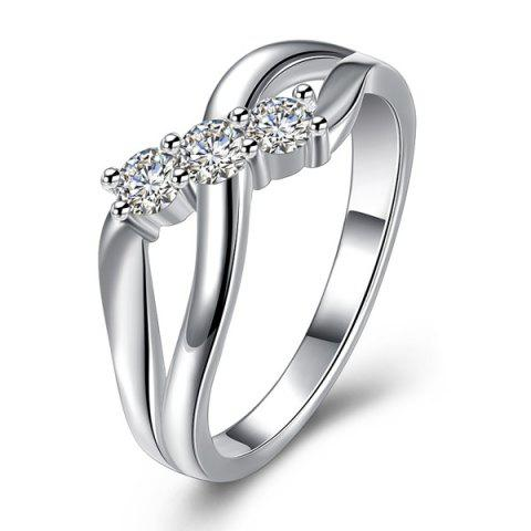 New Rhinestone Infinite Ring - 7 SILVER Mobile
