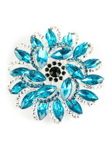 Fancy Rhinestone Flower Brooch