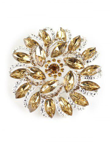 Shops Rhinestone Flower Brooch - YELLOW  Mobile
