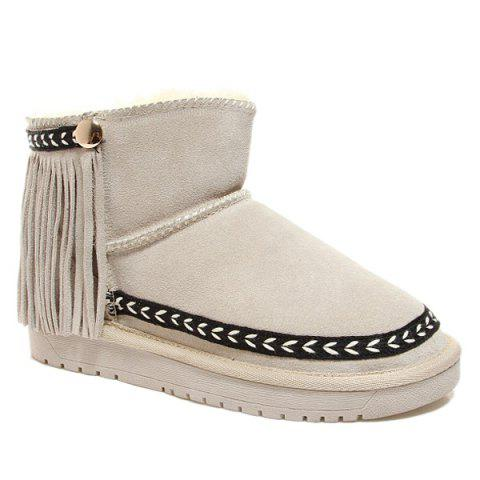 Fashion Fringe Suede Snow Boots