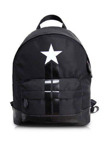Affordable PU Leather Insert Star Print Backpack