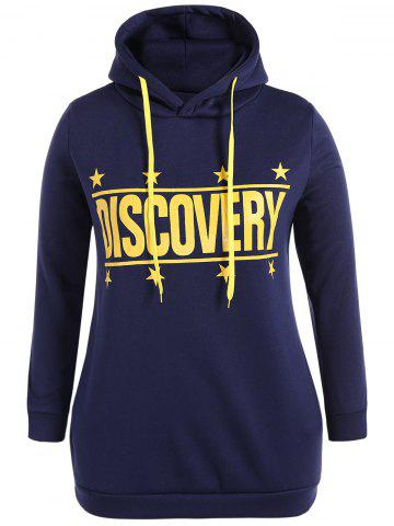 Unique Discovery Print Plus Size Hoodie