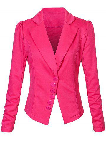 Shops One Button Lapel Asymmetric Jacket Blazer - S TUTTI FRUTTI Mobile