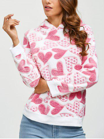 Outfit Fleece Hearts Graphic Pullover Hoodie