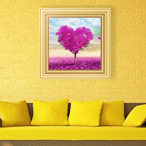 Hot DIY Beads Painting Love Tree Cross Stitch LIGHT PURPLE
