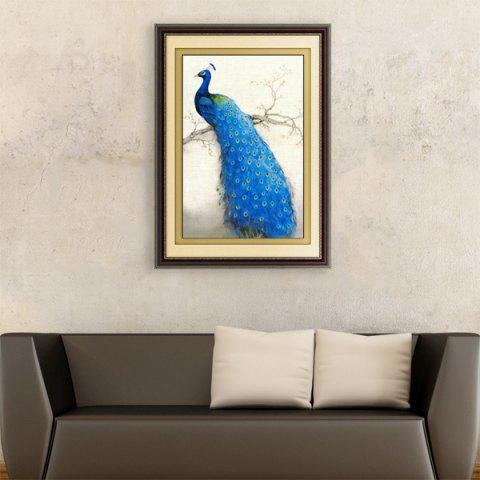 Affordable DIY Beads Painting Blue Peacock Right Cross Stitch
