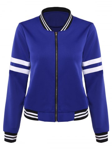 Latest Slim Striped Baseball Jacket