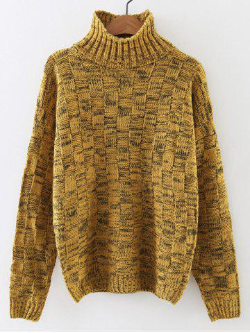 Outfit Turtleneck Long Sleeve Cable Knit Sweater