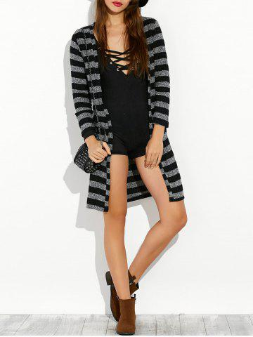 New Stripe Long Cardigan