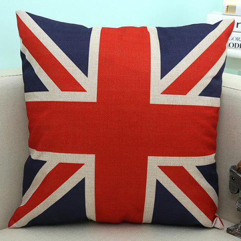 Online England Flag Pattern Sofa Cushion Linen Pillow Case