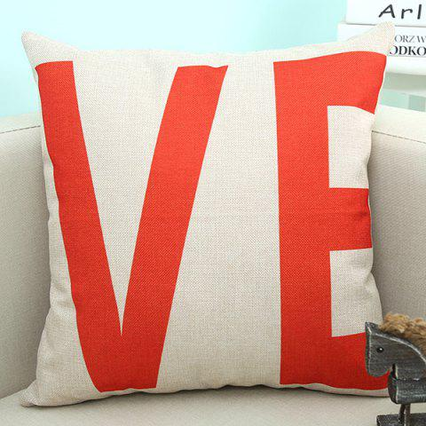 Cheap VE Letter Love Sofa Cushion Linen Pillow Case