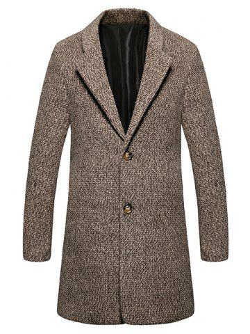 Best Lapel Single Breasted Wool Blend Tweed Overcoat