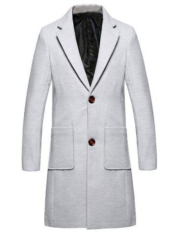 Hot Lapel Single Breasted Wool Blend Overcoat