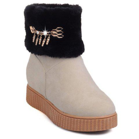 Outfit Metal Increased Internal Faux Fur Snow Boots